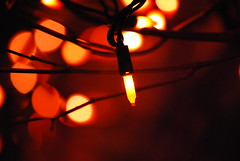 Mysterious light... (*when i snapped*) Tags: orange lights bokeh mysterious twigs d60 bokehlicious