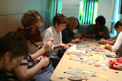 Becky Stern's Soft Circuit Embroidery Workshop @ SMoCA
