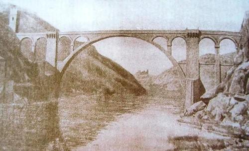 Recreación del acueducto romano de Toledo (1913)