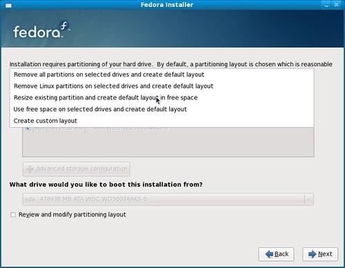 Screenshot-Fedora Installer