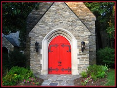 Red Door (SnapShotStrawn) Tags: door red tennessee chapel explore gatlinburg top20red