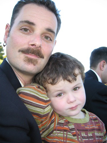 Five-Year-Old Leo and His Dad During Uncle John & Auntie Mary's Wedding