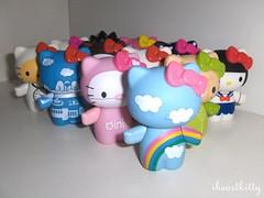 my HK army! =^..^= (iheartkitty) Tags: cute cat toys japanese hellokitty urbanoutfitters vinyl kitty sanrio plastic kawaii figures blindbox iheartkitty