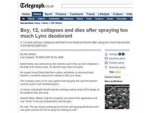 Too much Lynx will kill you