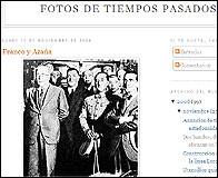 Franco y Azaña juntos en una foto del blog