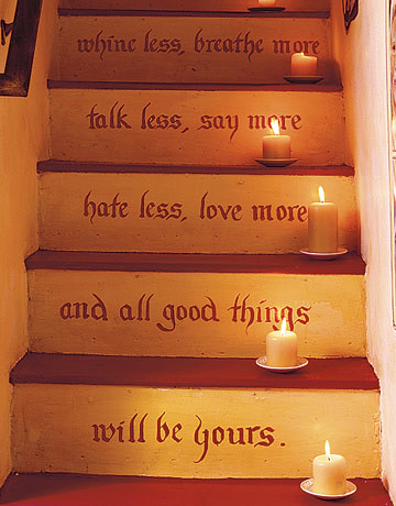 Staircase with Candles by decorology.