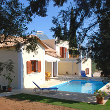 The garden at Villa Sweetwater on Zante by Sunisle Holidays