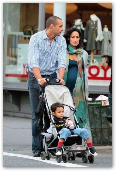 Nigel Barker, Cristen Chin Barker with Baby Jack