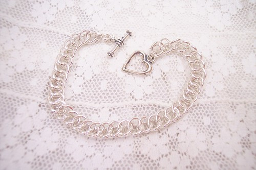 Sterling Silver Chain Maille Bracelet