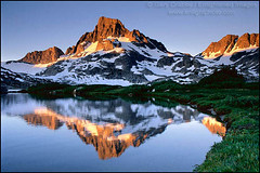 Banner Peak Reflection (enlightphoto) Tags: california blue mountain lake reflection water landscape still quiet scenic peaceful calm fresh clean reflected alpine easternsierra bannerpeak flickrsbest specland 1000islandlake superaplus aplusphoto garycrabbe enlightenedimages enlightphotocom