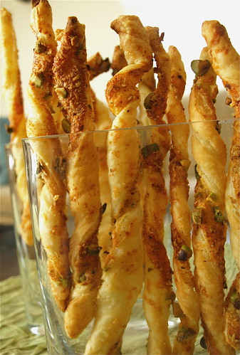 parmesan pistachio twists