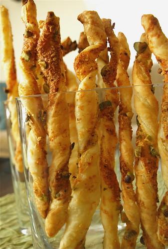 parmesan pistachio twists