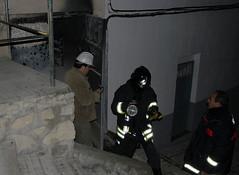 bomberos en un transformador de La Alcantarilla. /francis