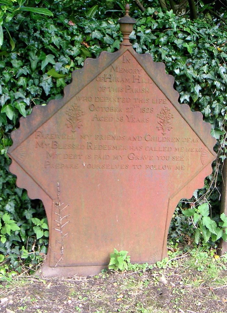 Cast Iron Grave Memorial