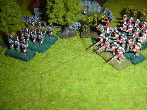 Clinton outflanks French infantry outside Hougomont