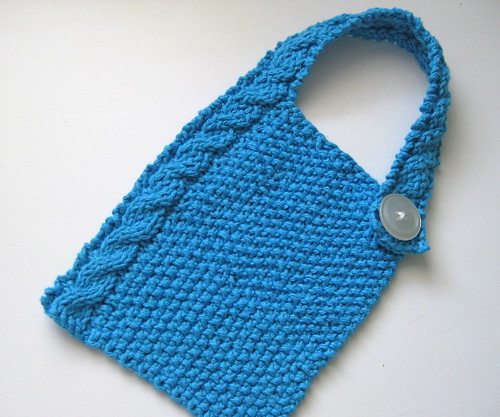 Modern Cabled Baby Bib
