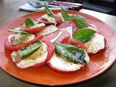 IMG_4474 (...Chopper...) Tags: home salad basil mozzarella heirloomtomatoes mozzarellacheese heirloomtomato freshmozzarella freshmozzarellacheese
