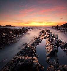 Atlantic sunset (antonyspencer) Tags: ocean uk sunset seascape landscape coast twilight rocks cornwall north rocky quay atlantic devon spencer antony rugged ledges hartland superaplus aplusphoto alemdagqualityonlyclub