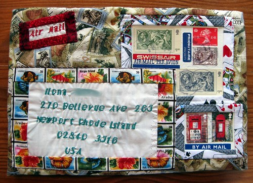 Amazing hand-sewn mail art!