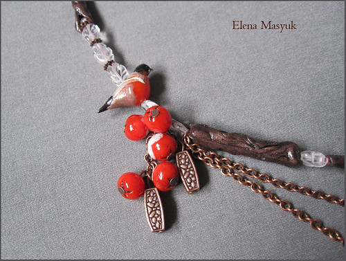 "Necklace ""First snow"""