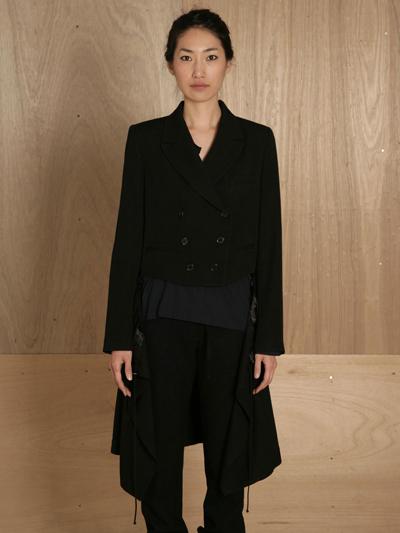 www.ln-cc.com Ann Demeulemeester Women's Coat Lainecotton Black