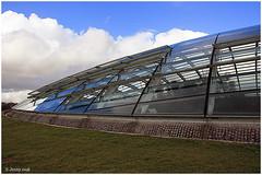 Window to the world... (welshlady) Tags: uk sky reflection architecture memorial carmarthenshire photoshoot dome bandstand captainscott nationalbotanicalgardens welshlady canoneos400d southwestwales welshflickrcymru wfc09032008nbg