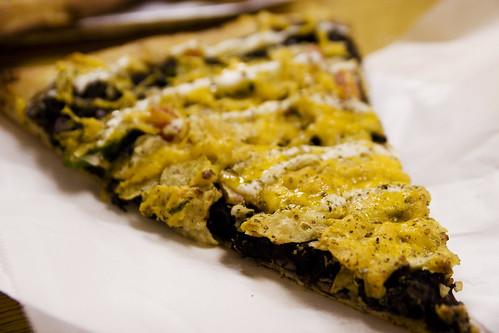 black bean avocado pizza?