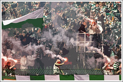 Light up the stands / Lechia - Polonia (jakub_bak) Tags: sport race football soccer fans flares stands pika gdask nona kibice choreo myn lechia trybuny traugutta szaliki