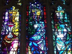 The Vine, The Bread & The Water of Life. (Aidan McRae Thomson) Tags: school church window glass modern northamptonshire chapel stainedglass stained piper oundle reyntiens