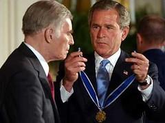 Charlton Heston & President George W. Bush - Medal of Freedom honor