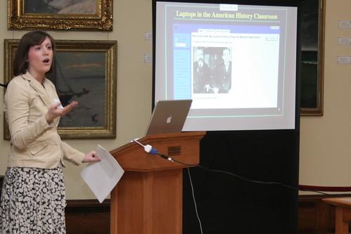 Eileen McLaughlin, Medford High School teacher talks about wikis