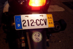 License Plate - DSC02421 (yuankuei) Tags: plate scooter  autobike