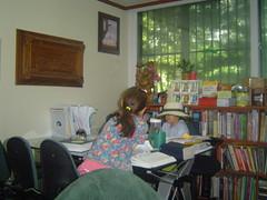 Two Settling Down to the Business of Study (wnlong) Tags: sleeping trashdump studytable