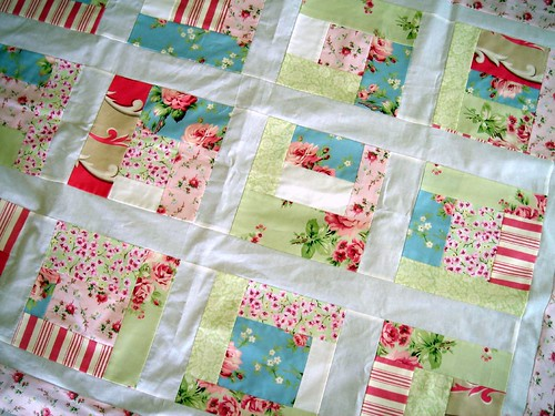 roses quilt top