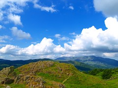 Lakeland Scene (Tony Worrall) Tags: uk blue england sky nature clouds view natural cloudy britain lakes scene hills cumbria ambleside loughrigg