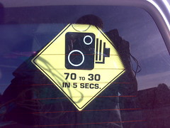 Speed Camera - Funny car sticker