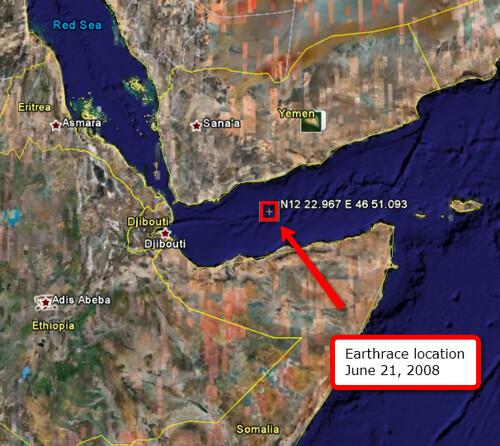 Earthrace location