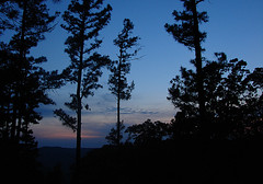 Ozark Blues (Nola Nate) Tags: blue trees sky mountains silhouette evening jasper dusk deer arkansas ozarks newtoncounty deerlodge ibeauty