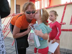 Gabs and her  teacher (John Beckley) Tags: gymnastics tenerife gabriella piedrahincada