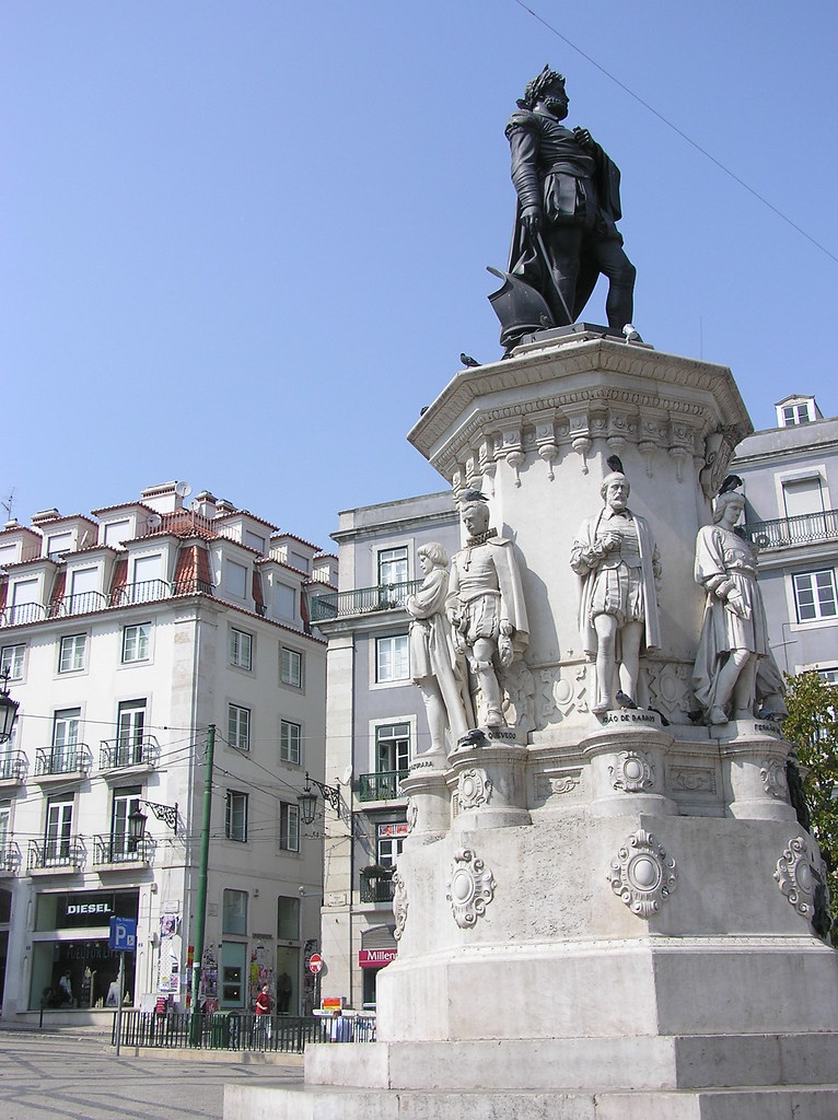 Largo do Camões square in Lisbon Portugal