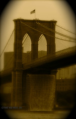 *BROOKLYN FALLS* (~*THAT KID RICH*~) Tags: nyc newyorkcity usa ny motion art history water stone skyline sepia brooklyn america flickr scaffolding manhattan flag famous bridges arches landmark explore waterfalls brooklynbridge eastriver fp olafureliasson iloveit tkr anawesomeshot worldicon diamondclassphotographer flickrdiamond thatkidrich theperfectphotographer richzoeller
