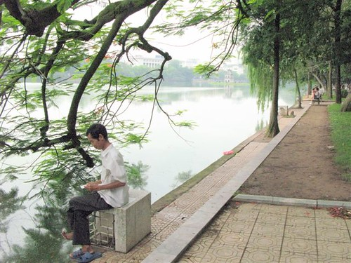 contemplation at Hoan Kiem Lake (1)