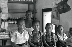Lansana Kamara and four of his children, Kabala, Sierra Leone (west Africa) 1968 (gbaku) Tags: pictures africa girls boy portrait west history boys girl shop sisters portraits children town photo pub 60s village child photos brothers sister brother african father picture villages sierra historic photographs photograph tavern westafrica shops afrika historical 1960s anthropologie pubs northern towns leone fathers sixties province anthropology taverns africain afrique ethnography geschichte ethnology kamara africaine kabala westafrican ethnologie classicblackwhite lansana afrikas koinadugu temne