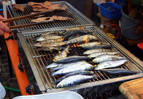 BBQd sardines, Lux