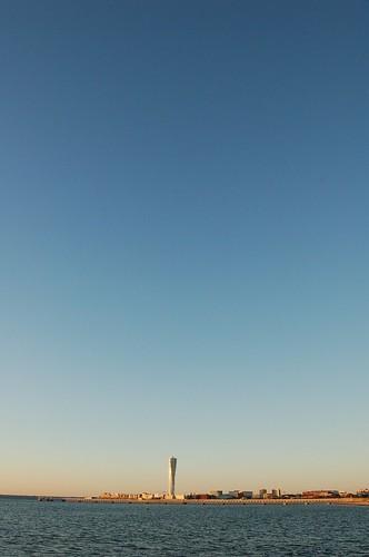 海とトルソと夕焼け
