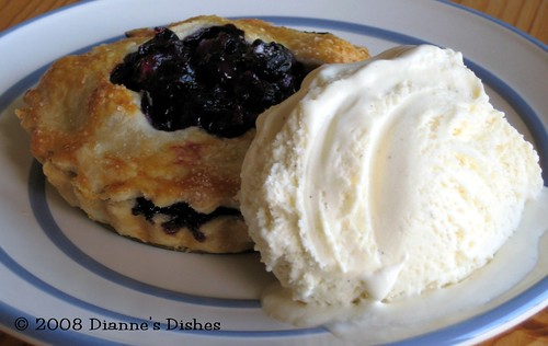 Tuesdays with Dorie: Double Crusted Blueberry Pie and White Chocolate Vanilla Bean Ice Cream