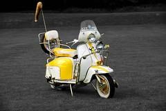 Lambretta (yesterdaydreamer) Tags: bw scotland scooter lambretta selective bute isleofbute wearethemods