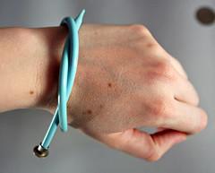 aqua needle bracelet