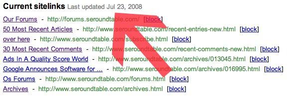 Google Sitelinks Date Stamp