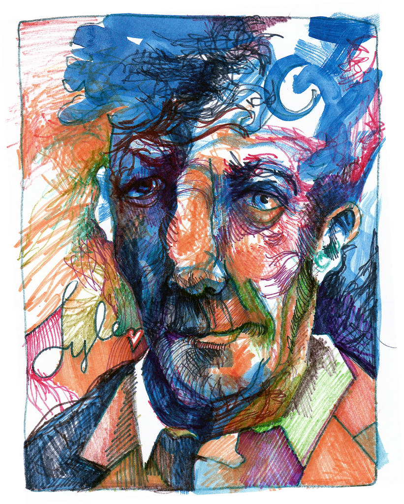 Lyle Lovett, ink on paper, 2008.